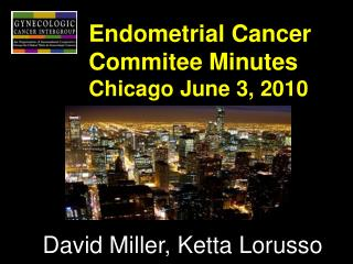 Endometrial Cancer Commitee Minutes Chicago June 3, 2010