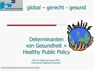Global   gerecht - gesund