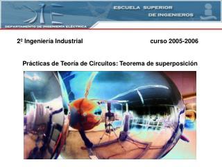 2  Ingenier a Industrial    curso 2005-2006   Pr cticas de Teor a de Circuitos: Teorema de superposici n