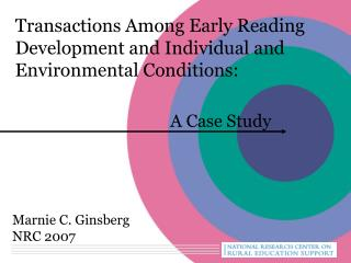 Transactions Among Early Reading Development and Individual and Environmental Conditions: