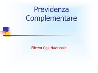 Previdenza Complementare