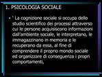 1. PSICOLOGIA SOCIALE