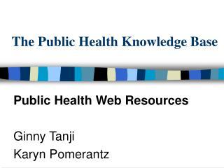 The Public Health Knowledge Base