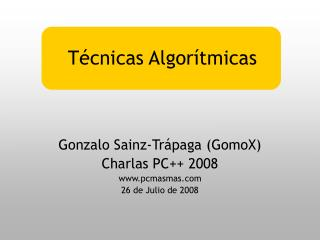 T cnicas Algor tmicas