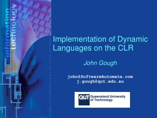 Implementation of Dynamic Languages on the CLR