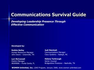 Communications Survival Guide
