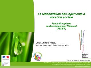 DREAL Rh ne-Alpes,  service Logement Construction Ville