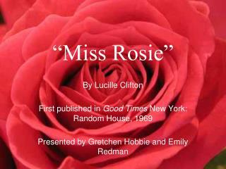 Miss Rosie