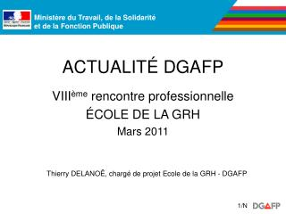 ACTUALIT  DGAFP