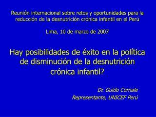Reuni n internacional sobre retos y oportunidades para la reducci n de la desnutrici n cr nica infantil en el Per   Lima