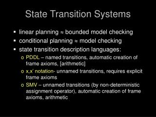 State Transition Systems