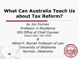 What Can Australia Teach Us about Tax Reform