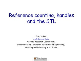 Reference counting, handles  and the STL