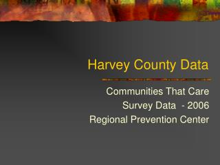 Harvey County Data