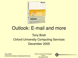 Outlook: E-mail and more