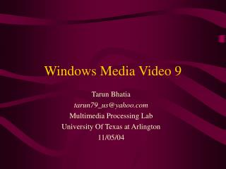 Windows Media Video 9