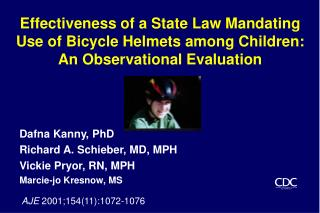 Effectiveness of a State Law Mandating Use of Bicycle Helmets among Children: An Observational Evaluation