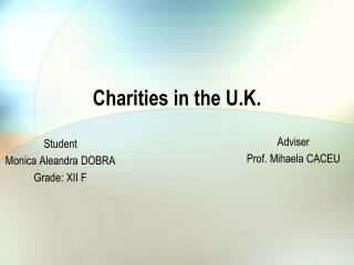 Charities in the U.K.