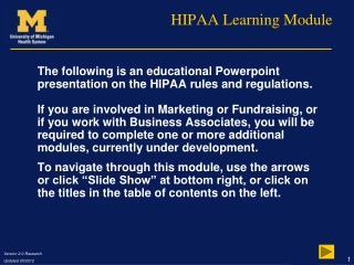 HIPAA Learning Module