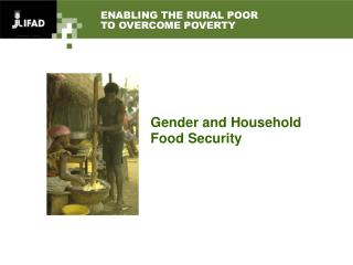 ENABLING THE RURAL POOR  TO OVERCOME POVERTY