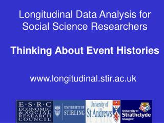 Longitudinal Data Analysis for Social Science Researchers  Thinking About Event Histories