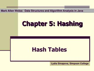 Chapter 5: Hashing