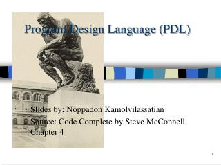 Program Design Language PDL