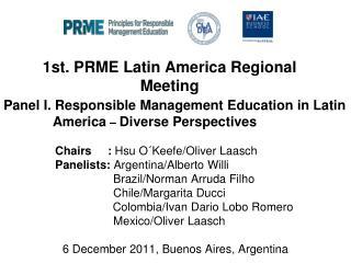 1st. PRME Latin America Regional Meeting
