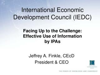 International Economic Development Council IEDC
