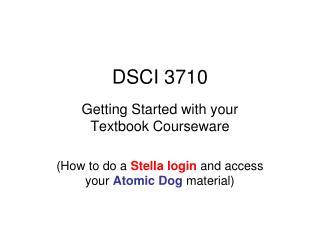 DSCI 3710