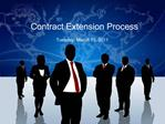 Contract Extension Process