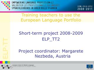 Training teachers to use the European Language Portfolio