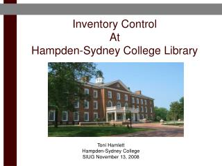 Inventory Control At Hampden-Sydney College Library