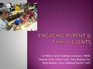 Engaging Parent  Family Events