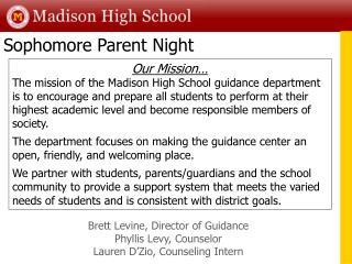Sophomore Parent Night