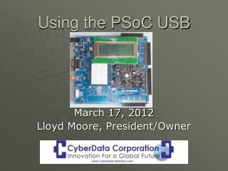 Using the PSoC USB