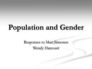 Population and Gender