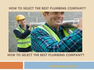 How to Select the Best Plumbing Company?