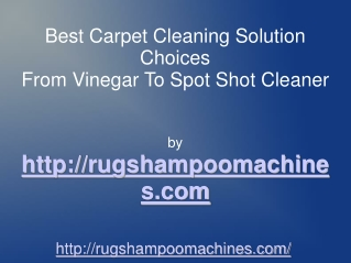 Trying To Find The Best Rug Cleaner Solution For My Rug