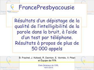 FrancePresbyacousie
