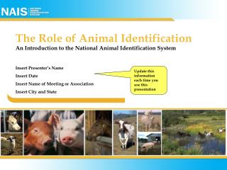 The Role of Animal Identification