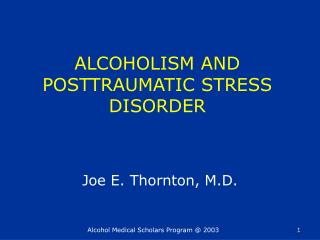 ALCOHOLISM AND