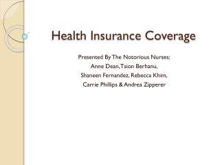 Health Insurance Coverage