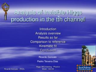 Analysis of Invisible Higgs production in the tth channel