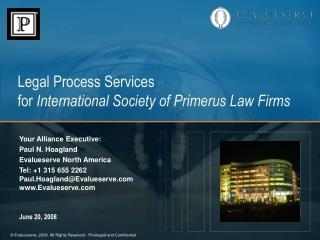 Legal Process Services for International Society of Primerus Law Firms