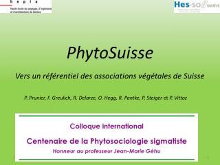 PhytoSuisse  Vers un r f rentiel des associations v g tales de Suisse