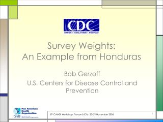 Survey Weights: An Example from Honduras