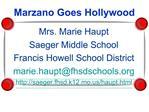 Marzano Goes Hollywood