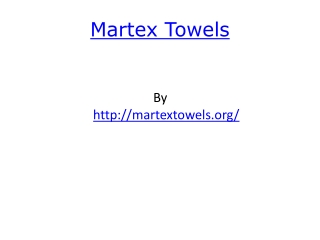 Martex Towels