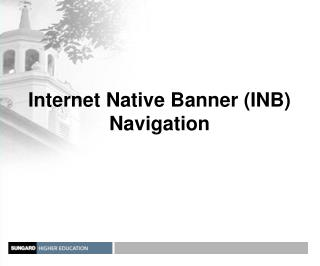 Internet Native Banner INB Navigation